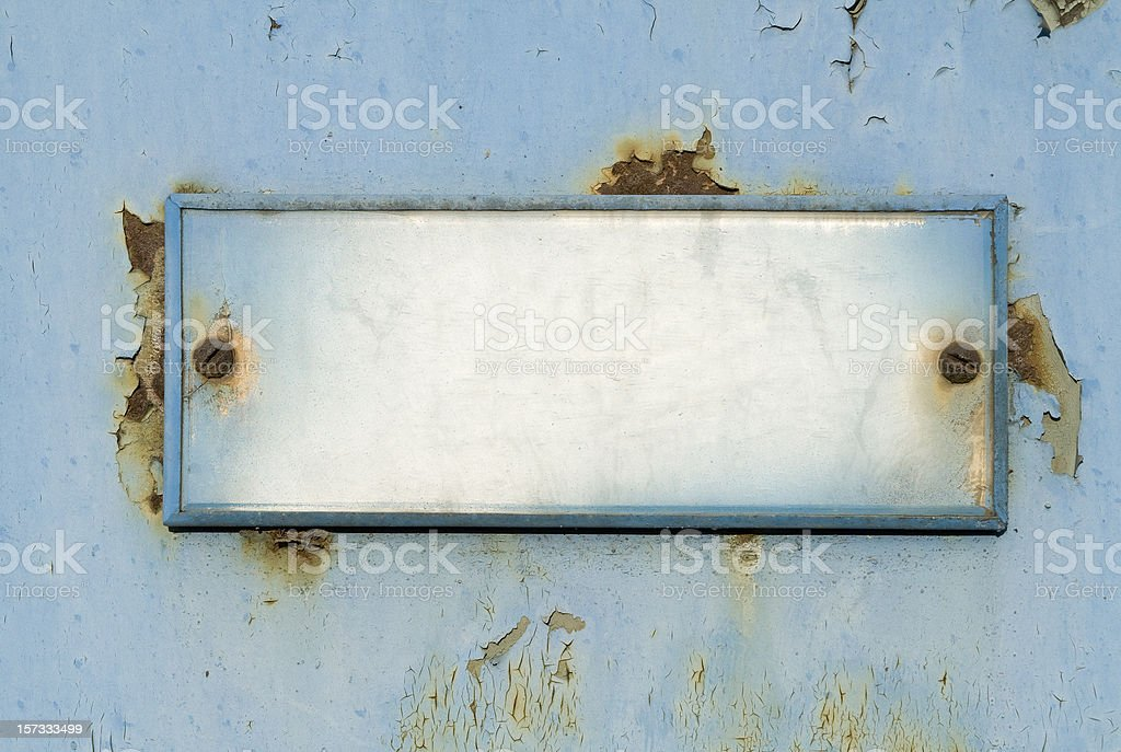 Grungy old  doorplate royalty-free stock photo