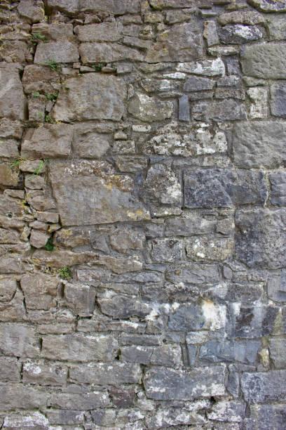 grungy oude middeleeuwse stenen muur achtergrond - versterkte muur stockfoto's en -beelden