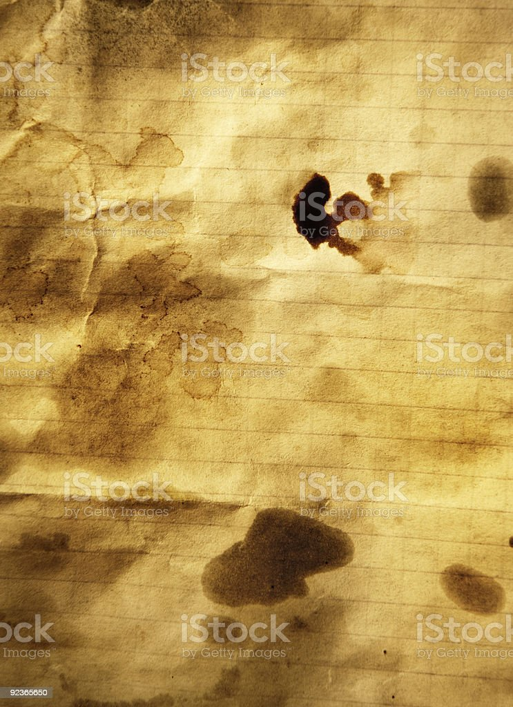 Grungy old page royalty-free stock photo