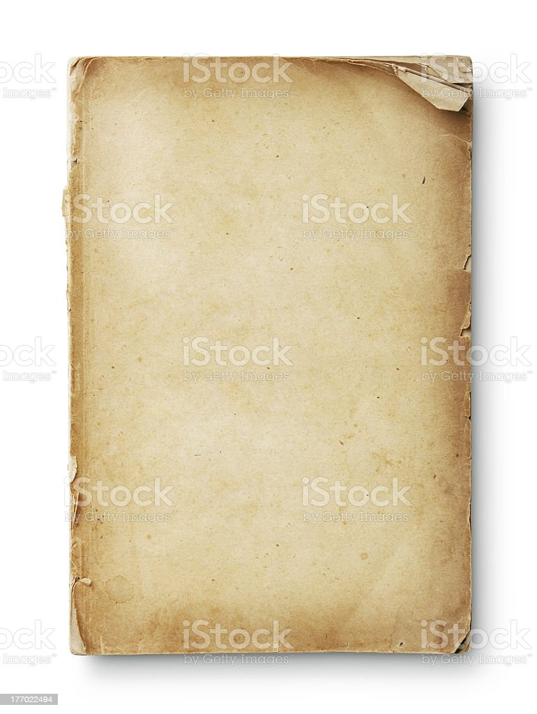 Grungy Old Paper with Frayed Edges stock photo