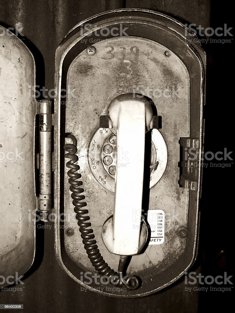 Grungy Old Telephone - Royalty-free Abstract Stock Photo