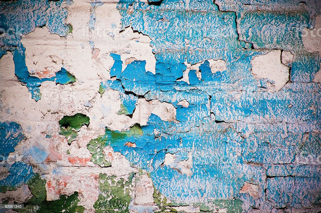 Grungy old wall with splotches royalty-free stock photo