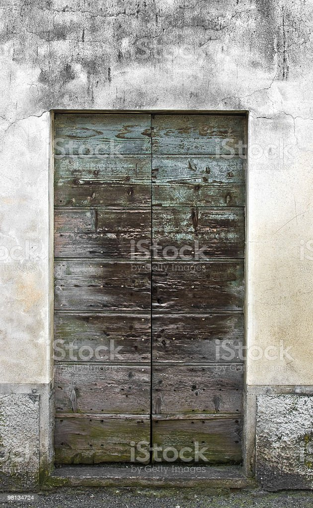 Grungy old wooden door royalty-free stock photo
