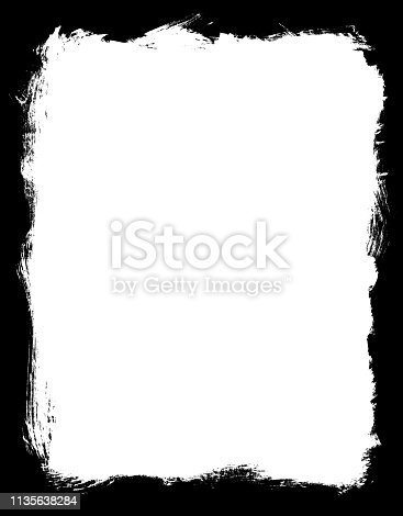 700561460 istock photo Grungy Painted Texture Border Background 1135638284