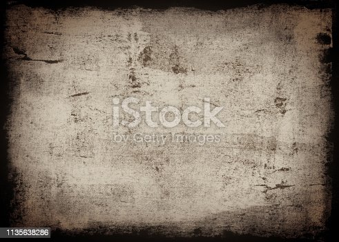 700561460 istock photo Grungy Painted Texture Border Background 1135638286