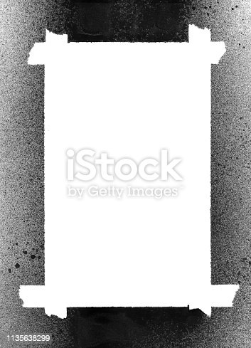 647148346 istock photo Grungy Painted Texture Border Background 1135638299