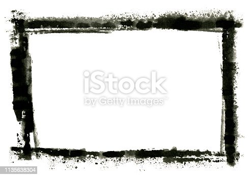 700561460 istock photo Grungy Painted Texture Border Background 1135638304