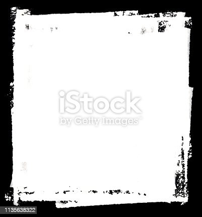 700561460 istock photo Grungy Painted Texture Border Background 1135638322