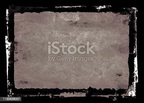 700561460 istock photo Grungy Painted Texture Border Background 1135638331