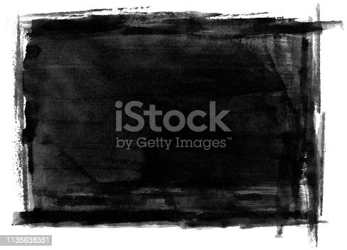 647148346 istock photo Grungy Painted Texture Border Background 1135638351