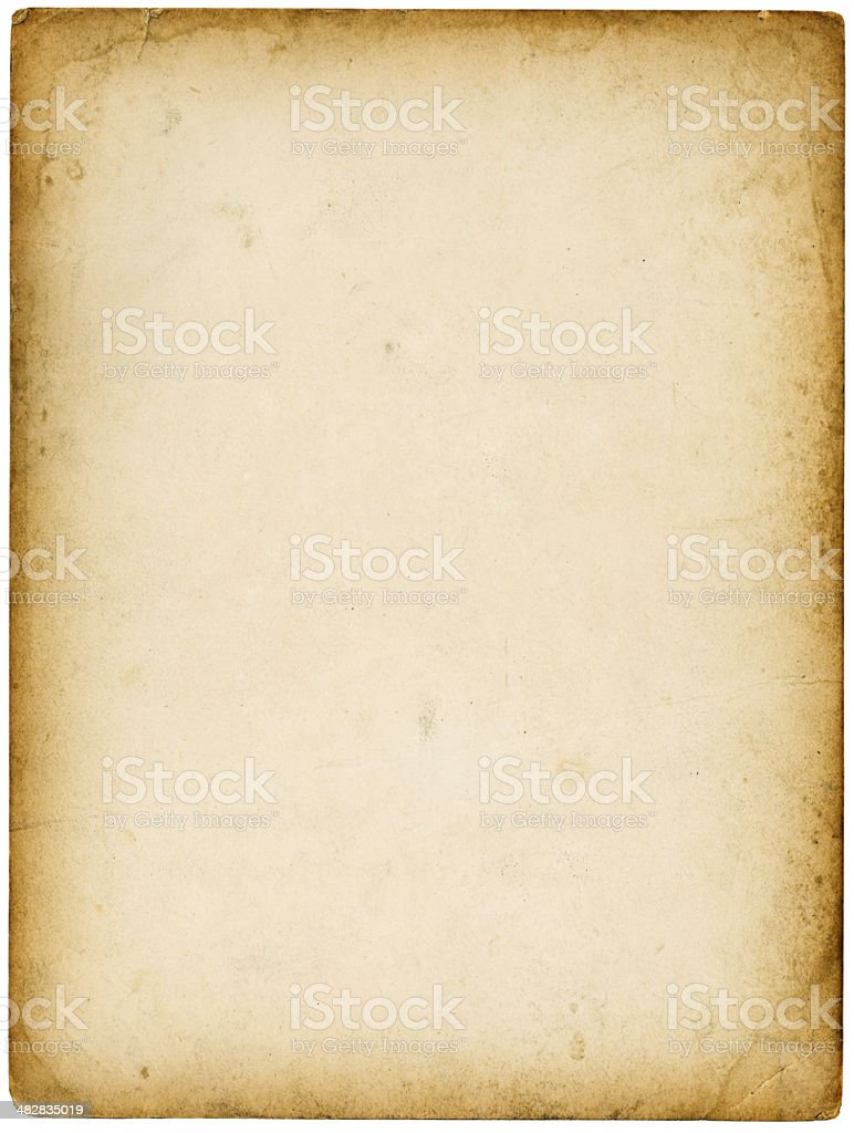 Grungy Paper Background (XXL; Clipping Path) stock photo