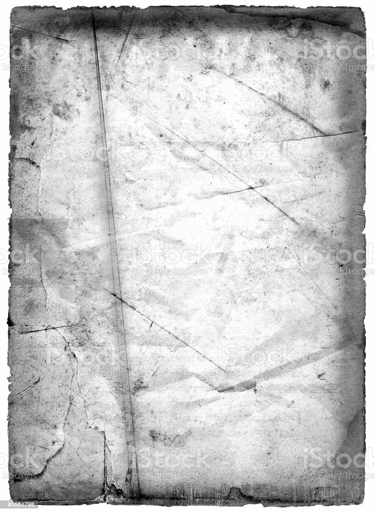 Grungy Paper, Black and White royalty-free stock photo