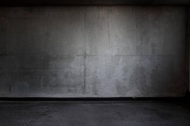 Grungy Parking Garage Background stock photo