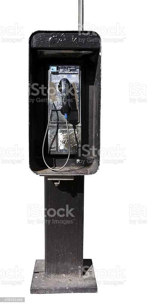 Grungy Pay Phone stock photo