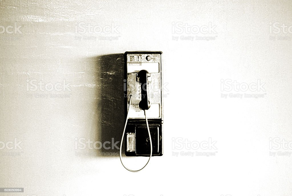 Grungy Payphone stock photo