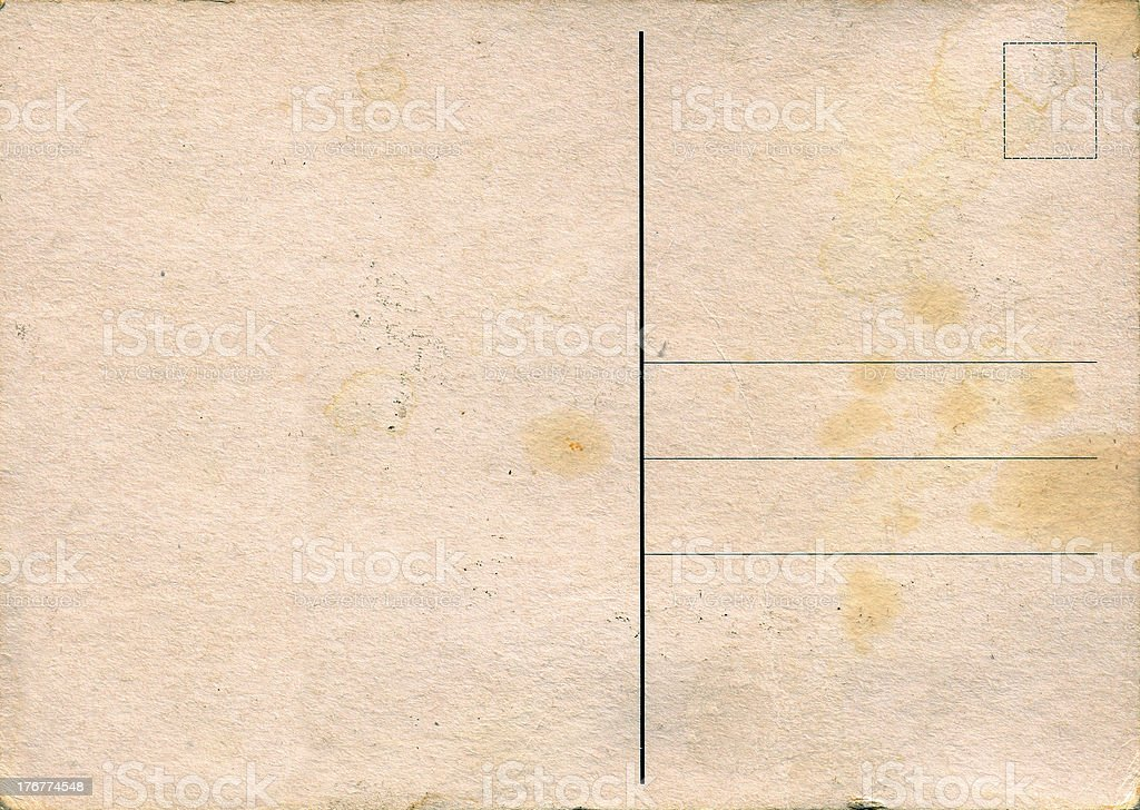 Grungy post card (large size) royalty-free stock photo