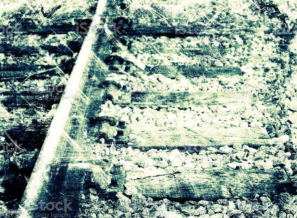 grungy railway detail stock photo