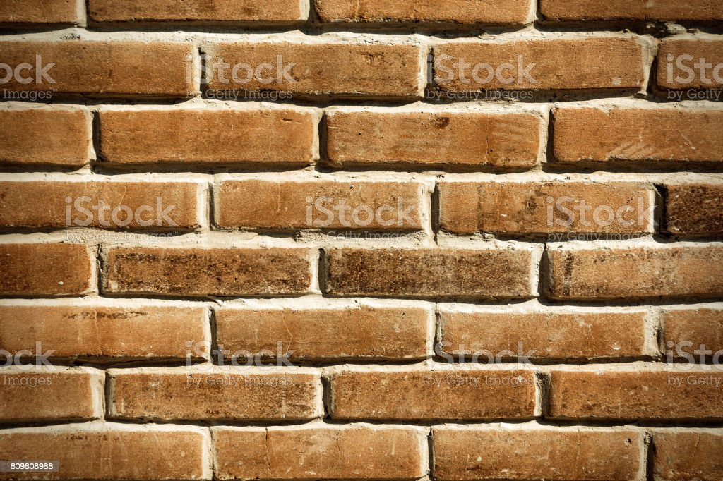 Grungy Red Brick Wall stock photo