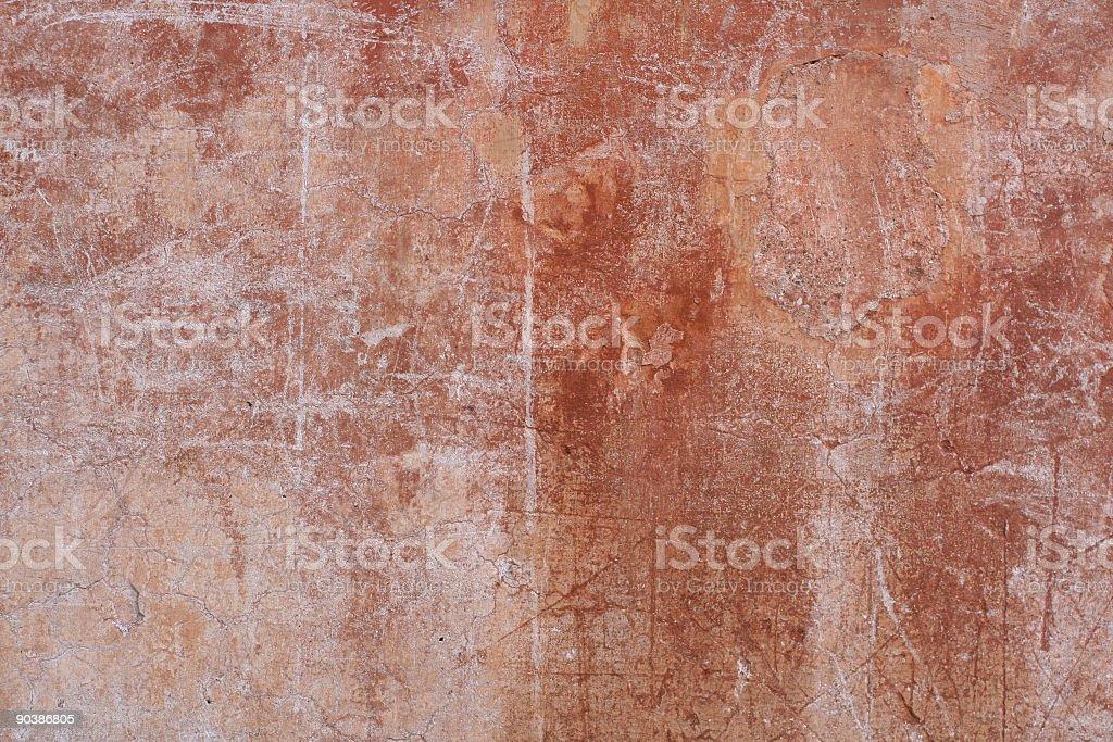 Grungy Roman wall background texture, Rome Italy royalty-free stock photo