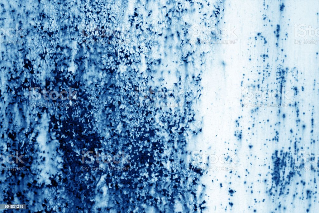 Grungy rusted metal surface in navy blue tone. royalty-free stock photo