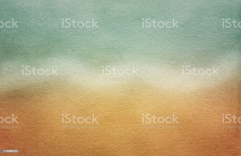 Grungy Sea Postcard. Old Paper Texture royalty-free stock photo