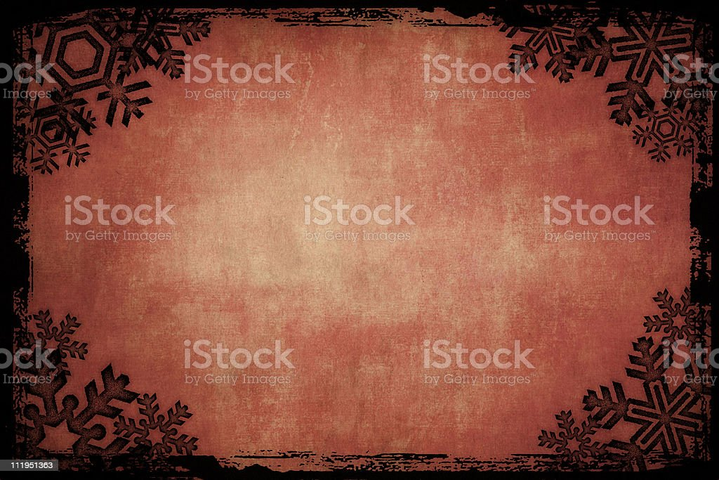 Grungy snowflake frame royalty-free stock photo