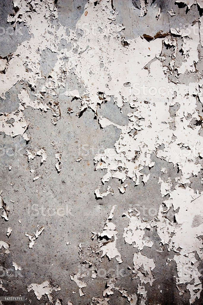 Grungy textured background with peeling wall royalty-free stock photo