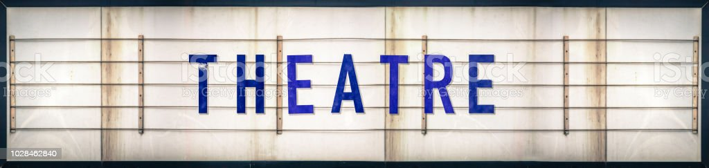 Grungy Theatre Marquee Sign stock photo