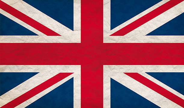 Grungy UK flag stock photo