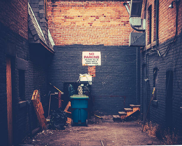 Grungy Urban Alley Retro Style Image Of A Grungy Urban Alley alley stock pictures, royalty-free photos & images