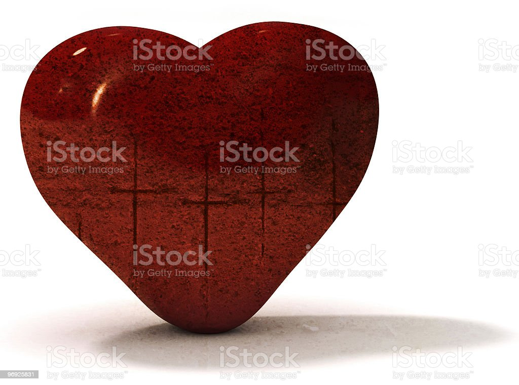 Grungy valentine's heart royalty-free stock photo