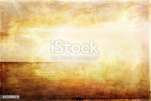 istock Grungy vintage image of light, sea and sky 542069976