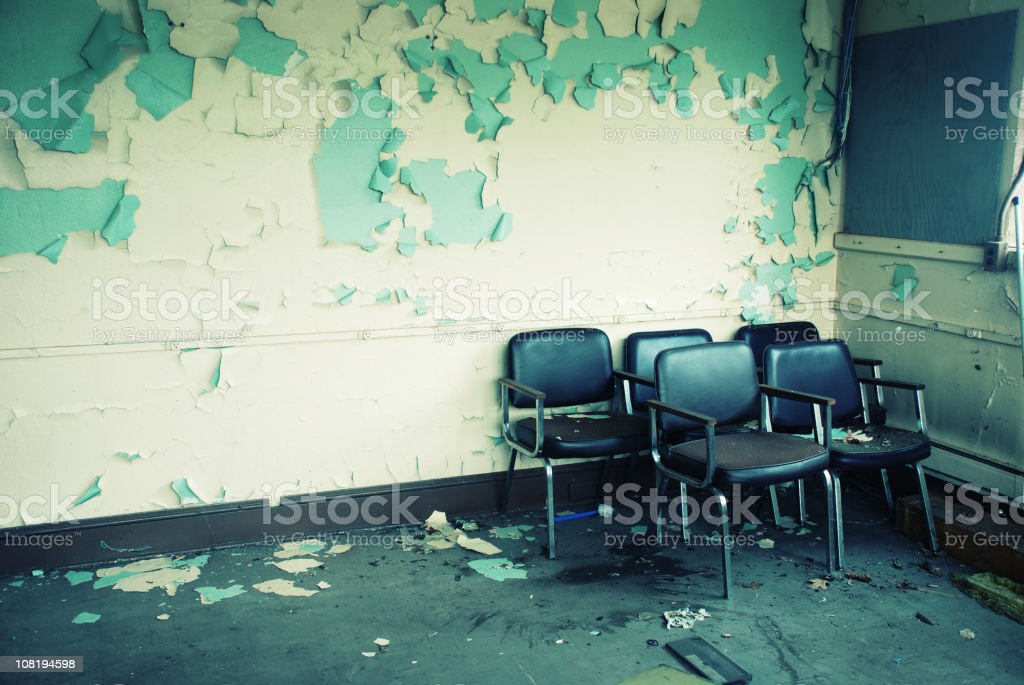 Grungy Waiting Room royalty-free stock photo