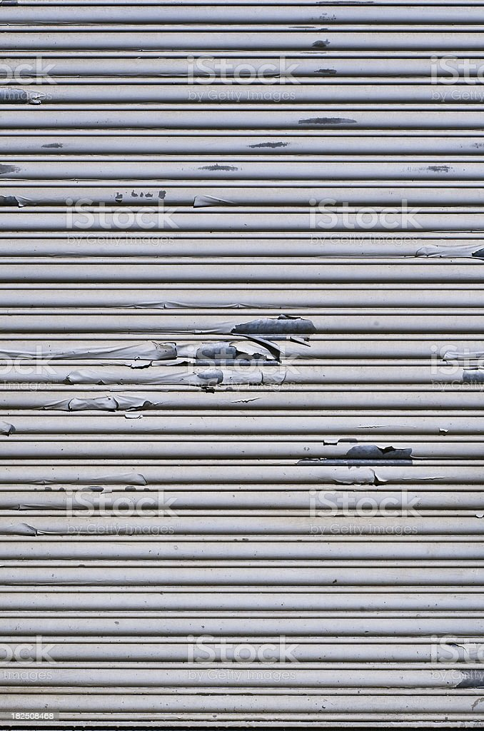 Grungy Weathered and Aged Steel Door royalty-free stock photo