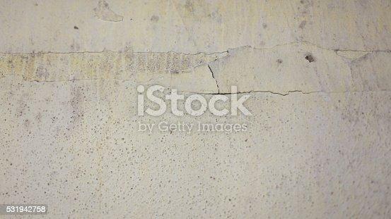istock Grungy white concrete wall 531942758