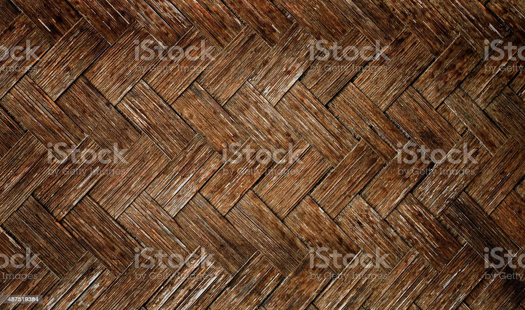 Grungy woven bamboo texture background stock photo
