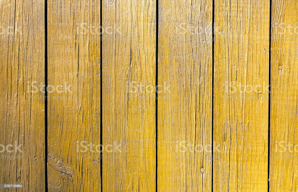 Grungy yellow wooden wall texture. stock photo