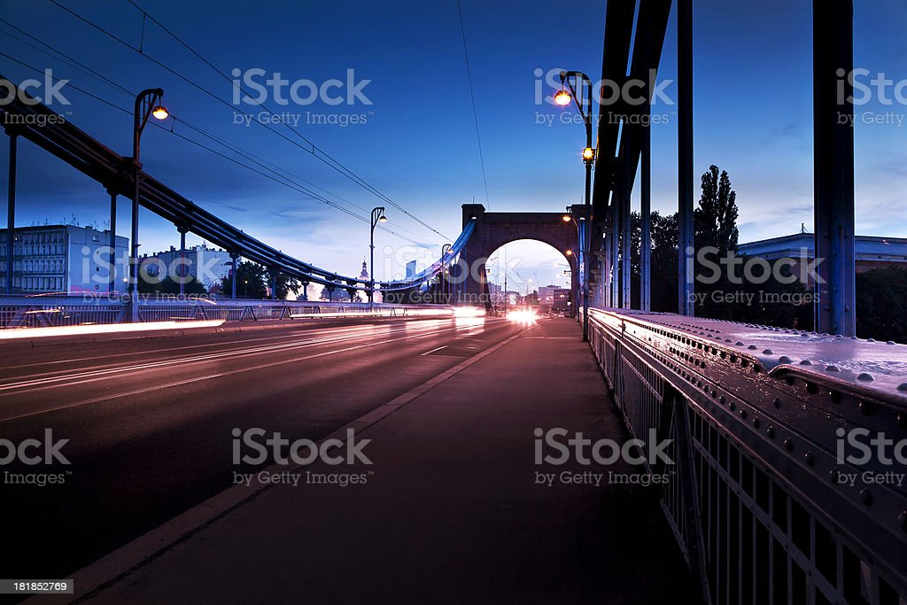 Grunwaldzki Bridge in Wroclaw stock photo
