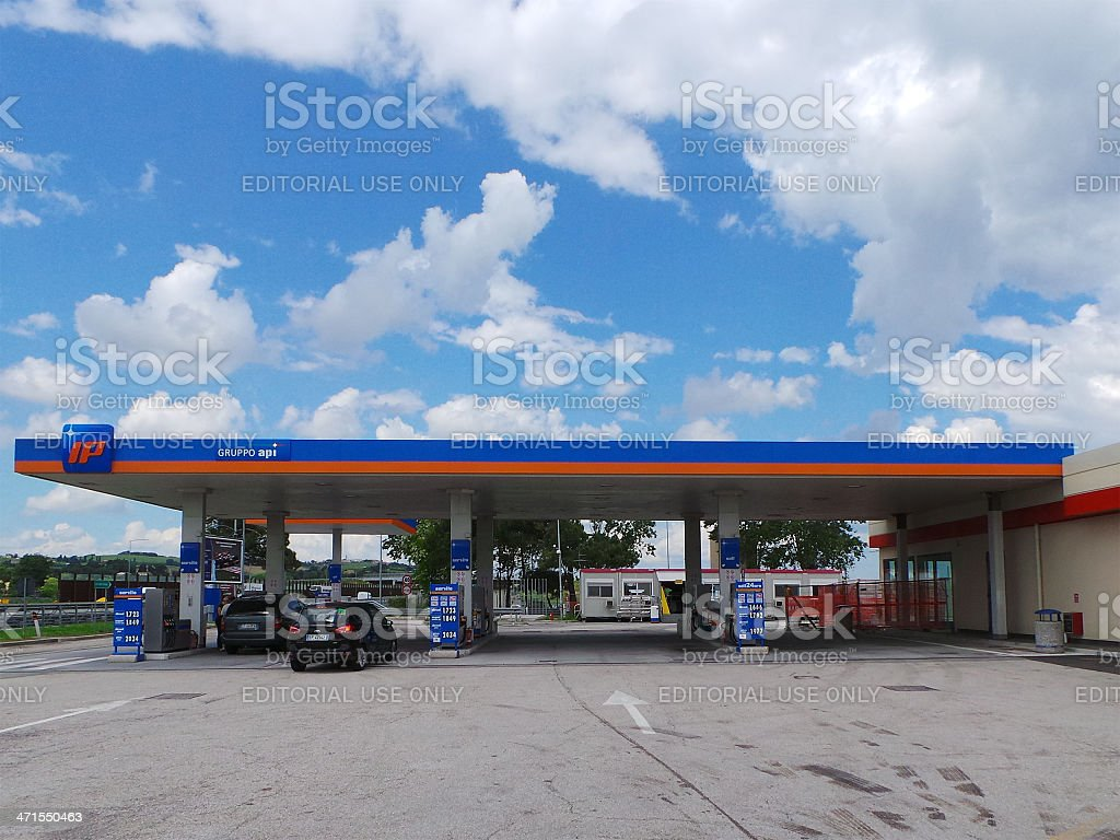 Gruppo Api Gas Station In Italy Stock Photo - Download Image