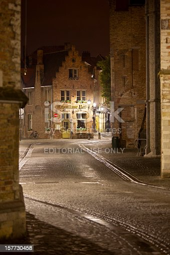 istock Gruuthuse Hof In Bruges At Night 157730458