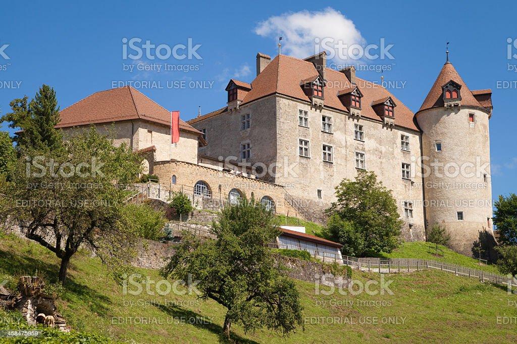 Gruyeres Castle royalty-free stock photo