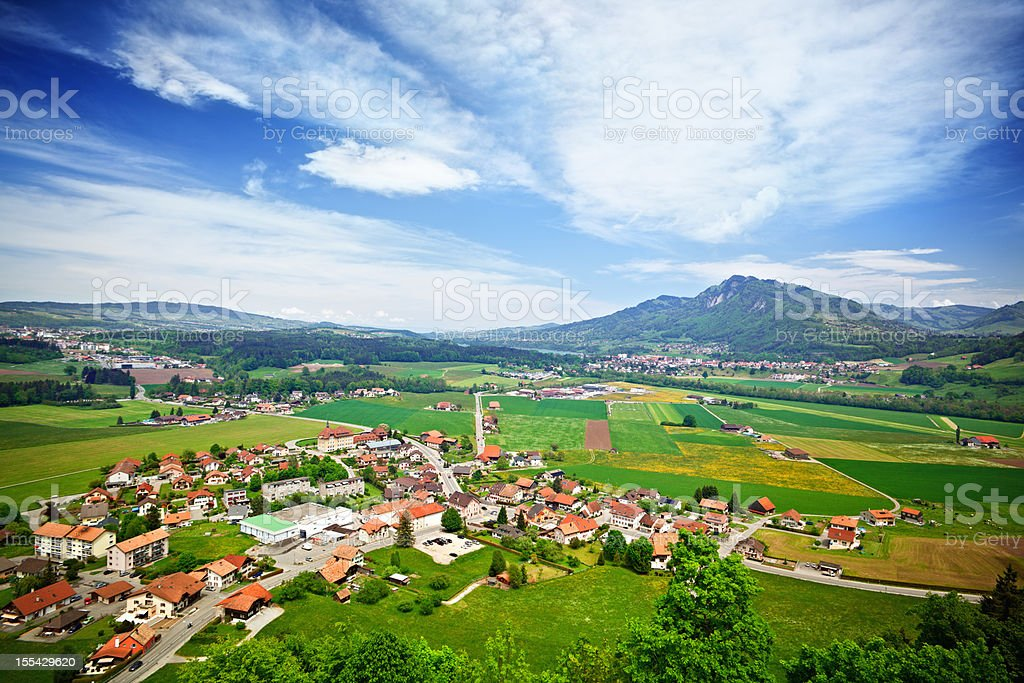 Gruyeres nearby royalty-free stock photo