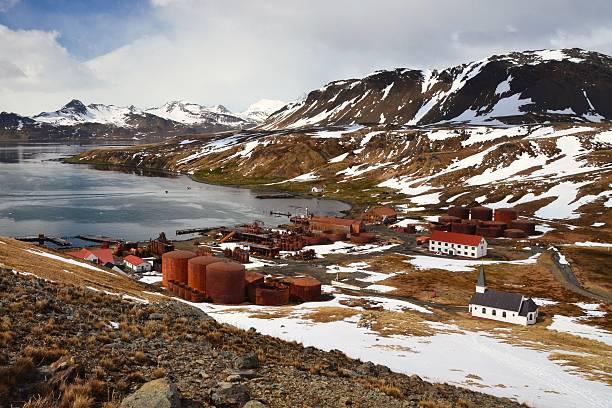 Grytviken Whaling Station stock photo