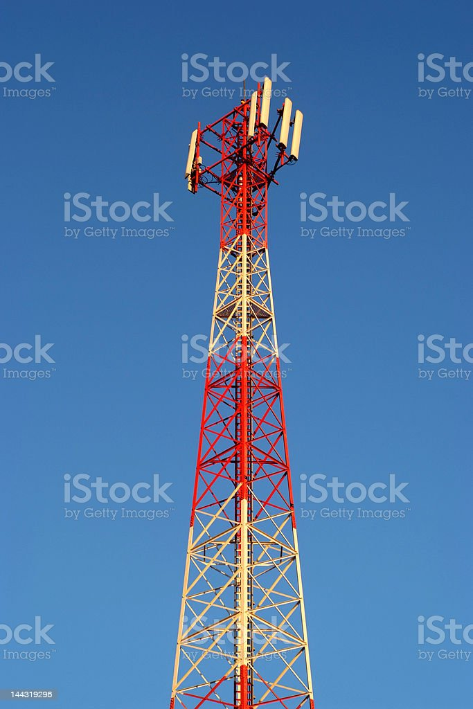 Gsm transmitter Gsm transmitter and the blue sky Agricultural Field Stock Photo