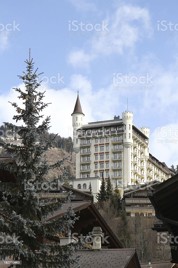 Gstaad in Switzerland - world famous ski resort stock photo