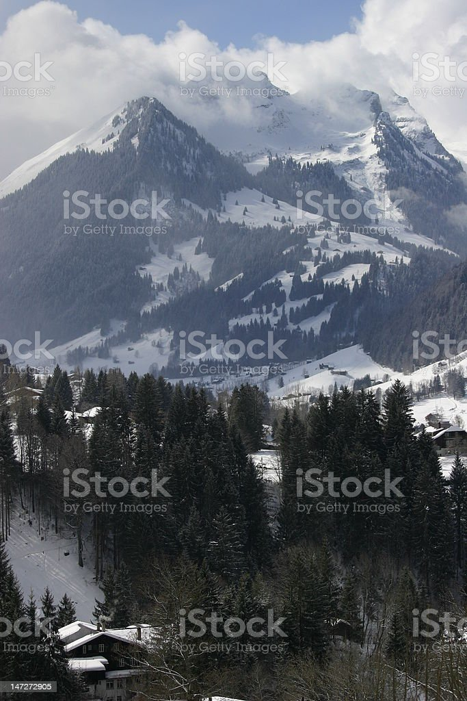 Gstaad Ski Area, Switzerland stock photo
