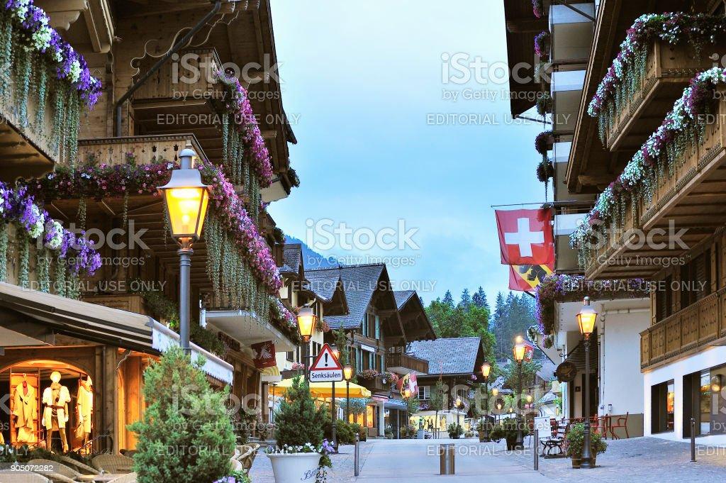 Gstaad, Switzerland stock photo