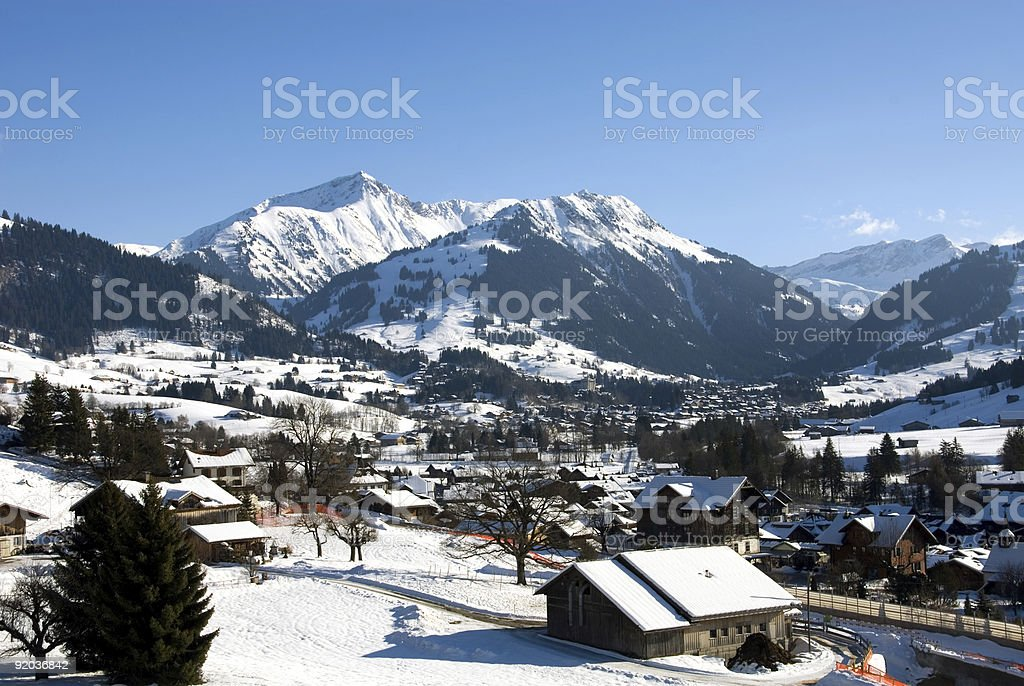 Gstaad, Switzerland stock photo