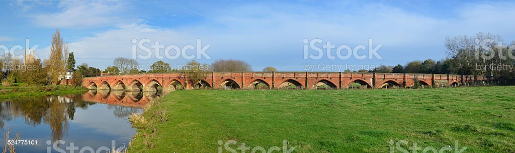 Gt Barford Bridge stock photo