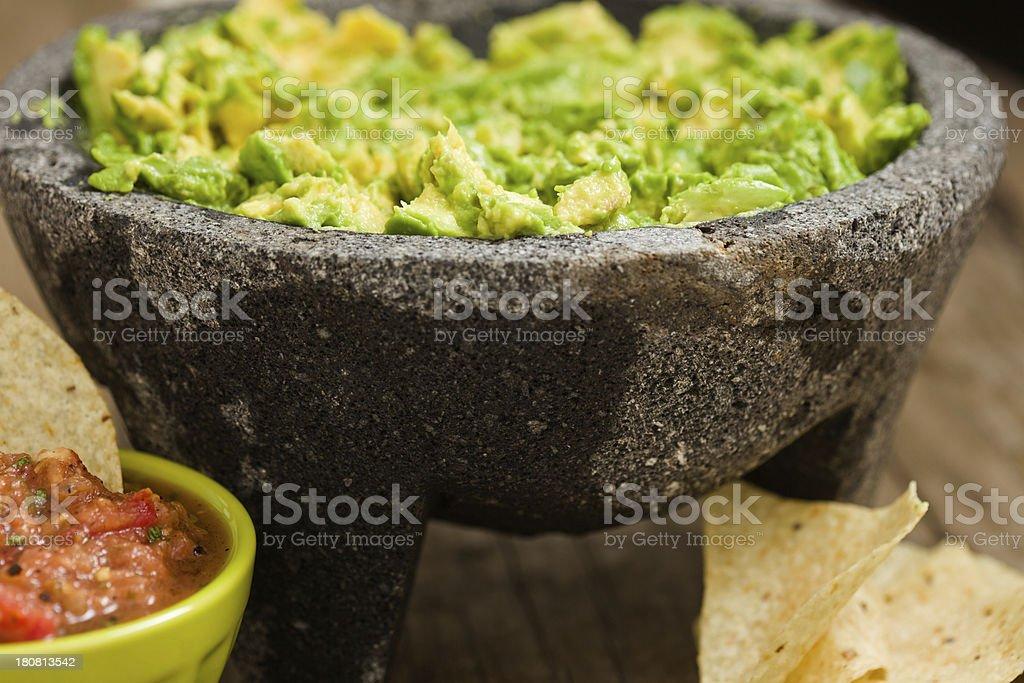 Guacamole And Salsa stock photo